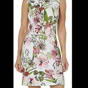 AGB Floral Sleeveless Sheath Dress